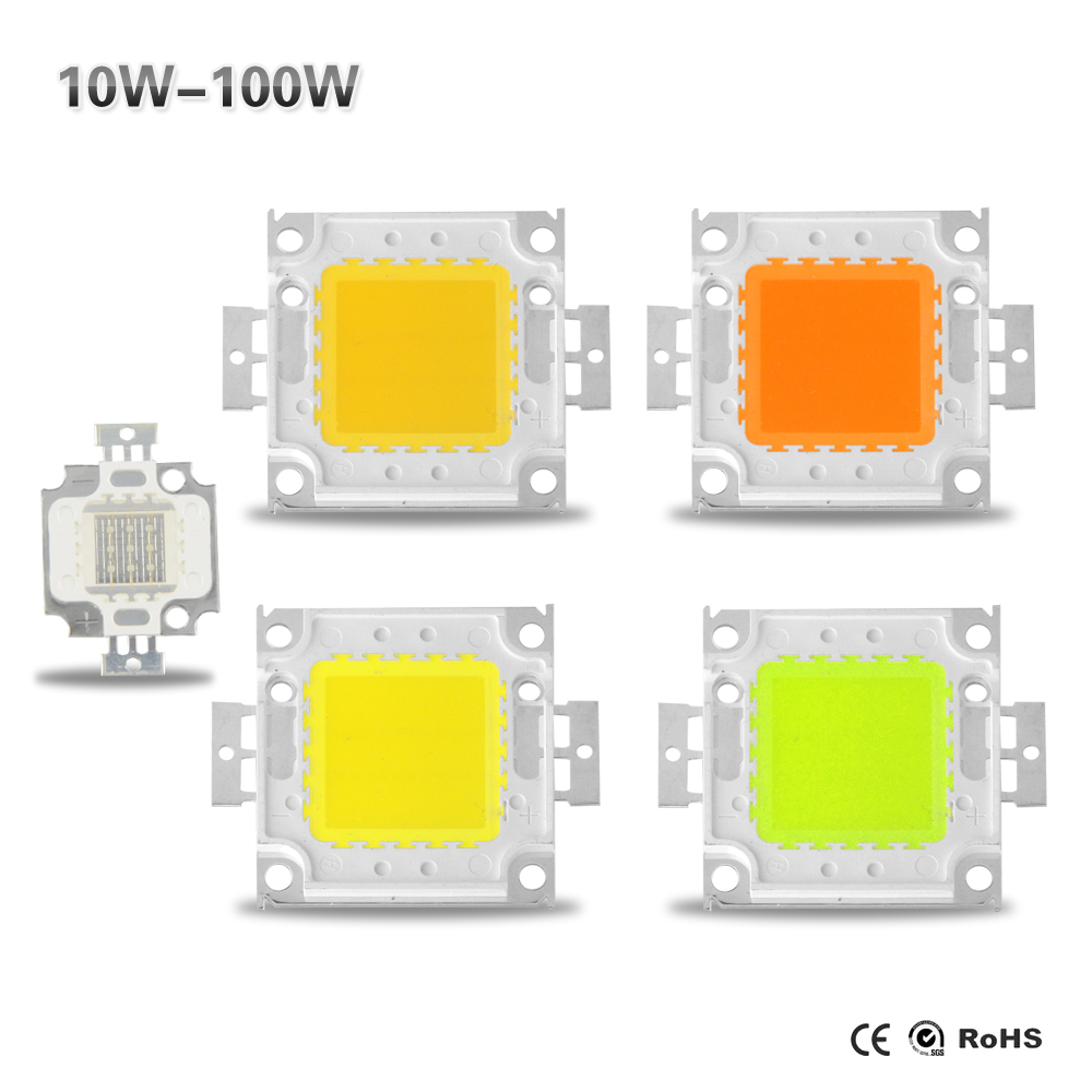 10W 20W 30W 50W 100W LEDs Integrated lamp Beads SMD Diodes For DIY LED Flood light Spotlight Bulb white/Red/Green/Blue RGB(China (Mainland))