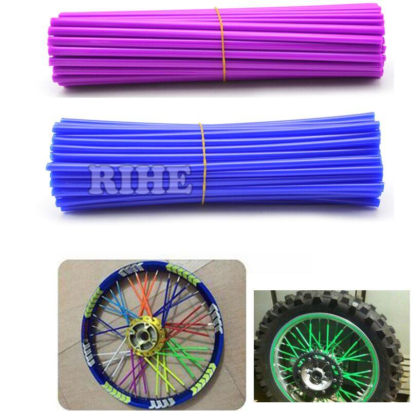 Motocross Dirt Bike Enduro Wheel RIM SPOKE Shrouds SKINS COVERS For HONDA125 YAMAHA 450 WR250 KTM150 EXC450 250 KAWASAKI KX 500(China (Mainland))
