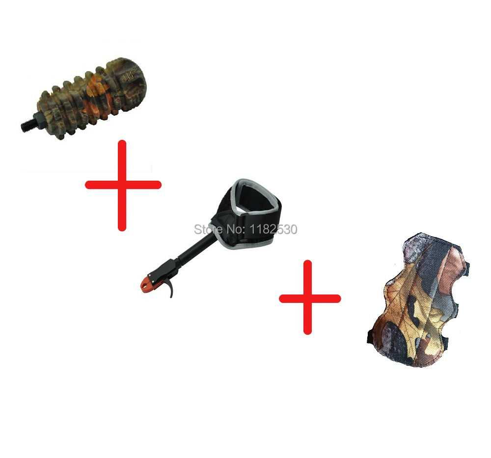 bow releases adjustable strapTP412 bow shooting black hunting archery bow Camouflage stabilize Bracers