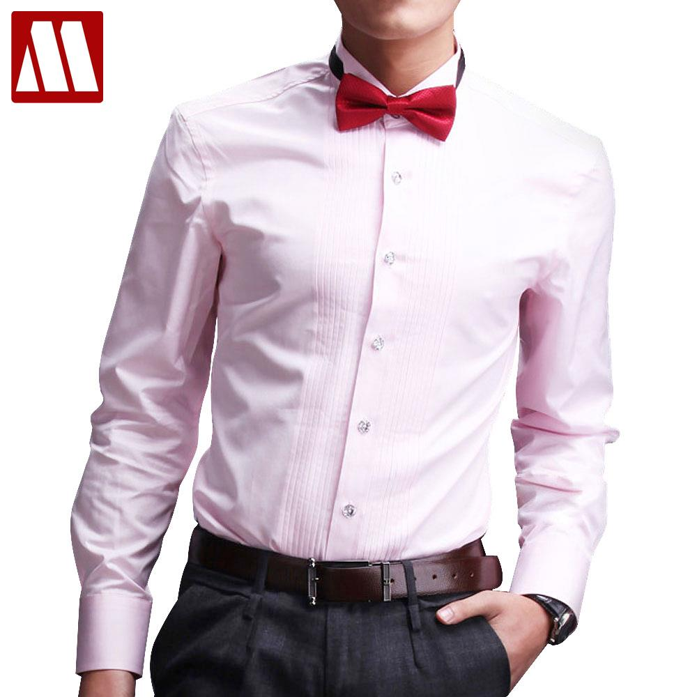 Anti wrinkle custom made wedding bridegroom tuxedo shirt for Wedding dress shirts for groom