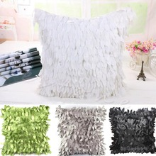 Hot Fallen Leaves Feather Pillow Case Couch Cushion Cover Home Decor Sofa Throw(China (Mainland))