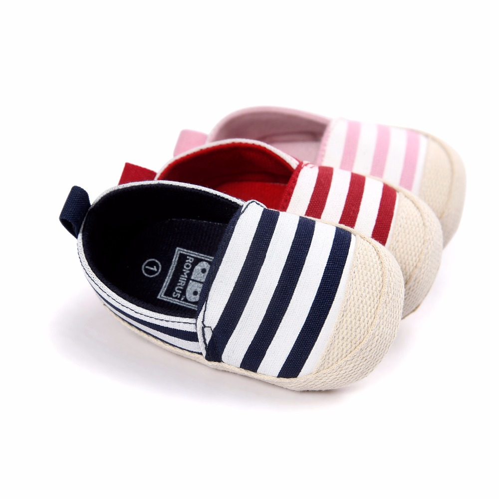 New Fashion Newborn Baby Unisex Kids Prewalker Shoes Infant Toddler Crib Babe Girl Boy Soft Soled Stripe Loafer Ballet Flats(China (Mainland))