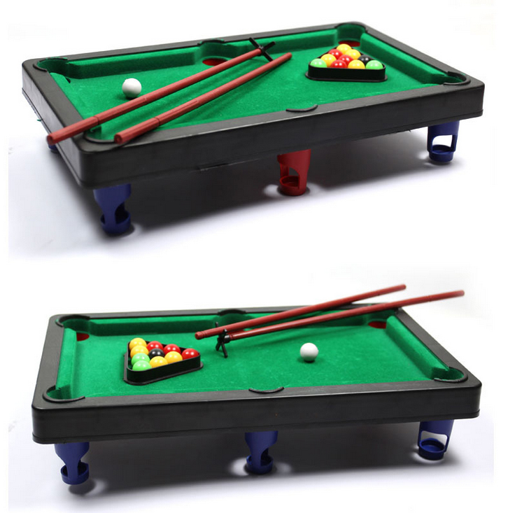 MINI POOL TABLE Flocking desktop simulation billiards billiards table sets children's play sports balls Sports Toys(China (Mainland))