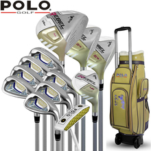 Brand POLO. Womens Female Ladies Golf Clubs Complete Golf Sets Women Golf Clubs Full Set with Wheels Bag Labor Saving for Ladies(China (Mainland))