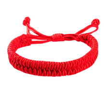 2016 New Fashion Red Rope Year of Fate Knot Weaving of Men and Women Bracelets(China (Mainland))