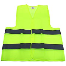 Hot Selling Outdoor Vehicle Cycling Reflective Strips Waistcoat High Visibility Gear Safety Vest Jacket Coats  For Most People (China (Mainland))
