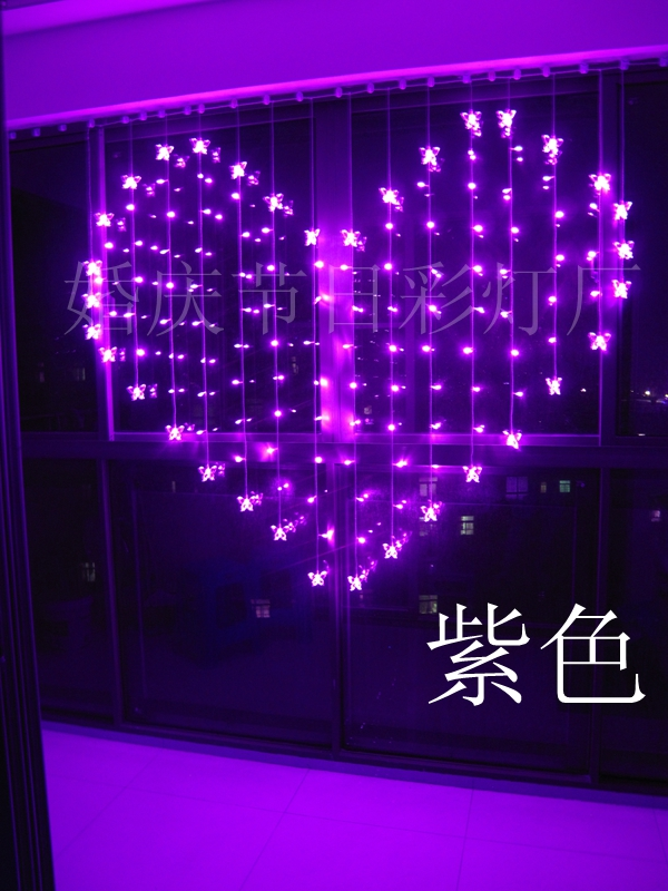 2 x 1.6m Led Dripping Icicle Decoration Butterfly Curtain Lights For New Year Christmas Wedding Fairy Party Decoration(China (Mainland))