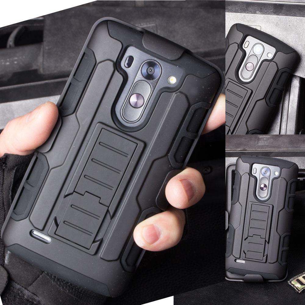 Armor Hybrid Hard Cell Phone Case For LG G2 G3 G4 G5 Stylus Mini Nexus 5 K7 K10 G4 Pro V10 Cases Cover Belt Clip Stand Holster(China (Mainland))