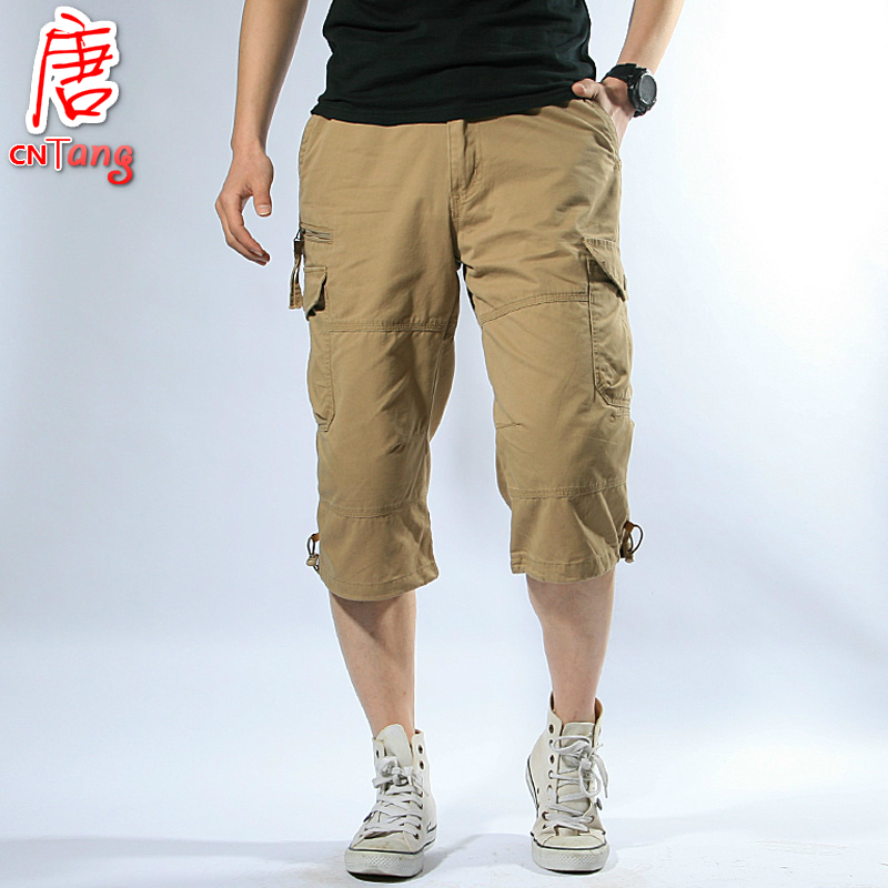 Mens Casual Baggy Cotton Linen Pocket Lounge Harem Capri Pants Beach Long Shorts.