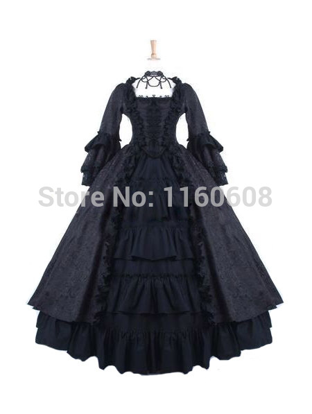 Black Gothic Antoinette Style Victorian Ball Gowns Victorian DressОдежда и ак�е��уары<br><br><br>Aliexpress
