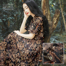 Buy Width140CM Limited hot sale fashion Digital painting silk natural linen blended fabric dress bright cloth tissu au meter DIY for $27.69 in AliExpress store