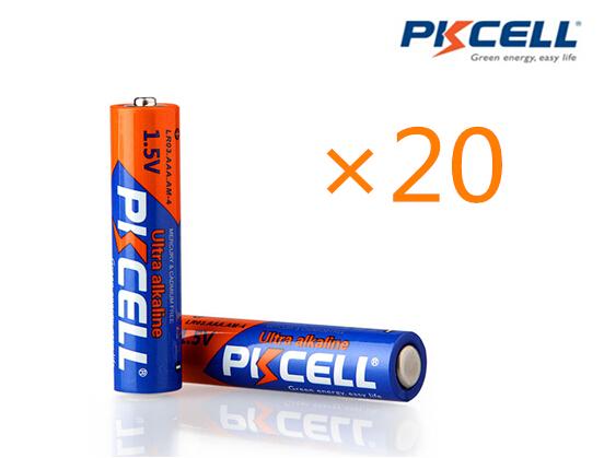 20Pcs/PKCELL alkaline batteries 1.5V LR03 AAA Battery 3A single use batteries(China (Mainland))