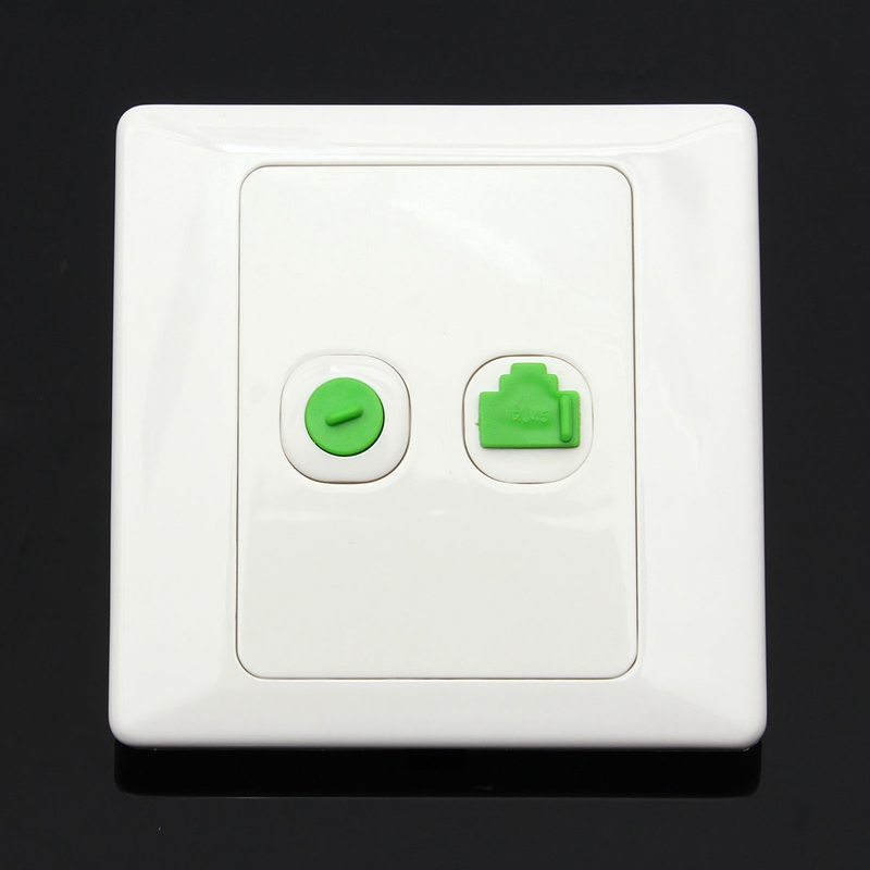 New Arrival Best Price Electric RJ45 Network + TV Aerial Socket Wall Mount Coaxial Outlet Plate Panel Super Quality(China (Mainland))