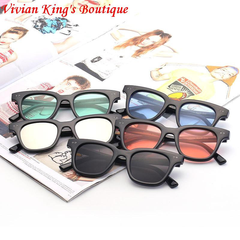 2016 South Korea Fashion G-Dragon Style Sunglasses Men Women Square Frame Transparent Lens Lunette De Soleil JWW126  -  Vivian King's Boutique store