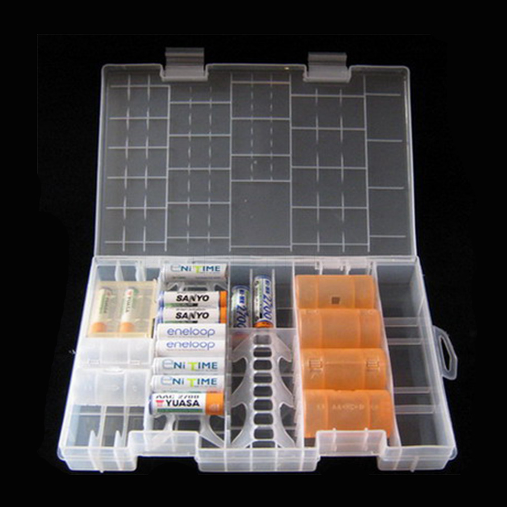 Storage Box Battery Container Transparent AAA/AA/C/D/9V Hard Plastic Battery Case Holder(China (Mainland))