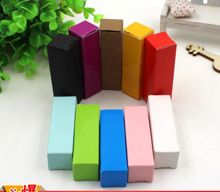 colorful paper lipstick small gift boxes wholesale cheap price DIY lipstick package boxes decoration lipstick boxes packaging(China (Mainland))