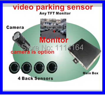 video parking sensor 4system connect any LCD TFT Monitor.sensor parking radar video camera backupsystem for any car car styling(China (Mainland))