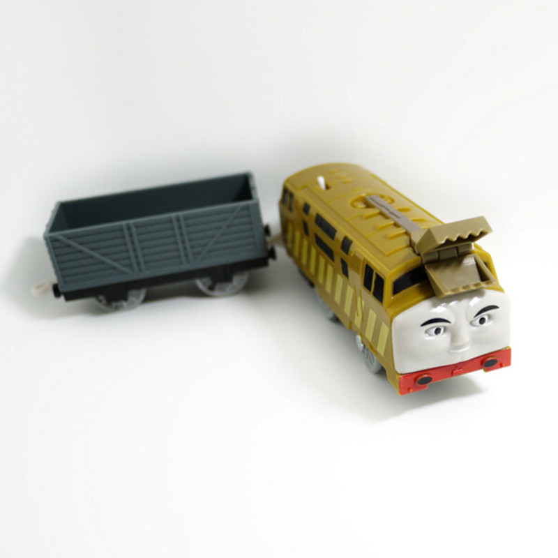 Electric Thomas and friend Diesel 10 with a Carriage Trackmaster engine Motorized train Chinldren child kids plastic toys(China (Mainland))