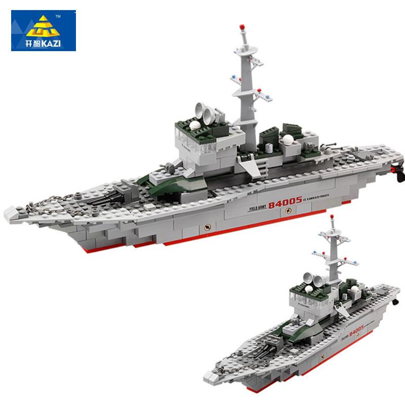 KAZI Military Ship Model Building Blocks Kids Toys Imitation Gun Weapon Equipment Technic Designer educational(China (Mainland))