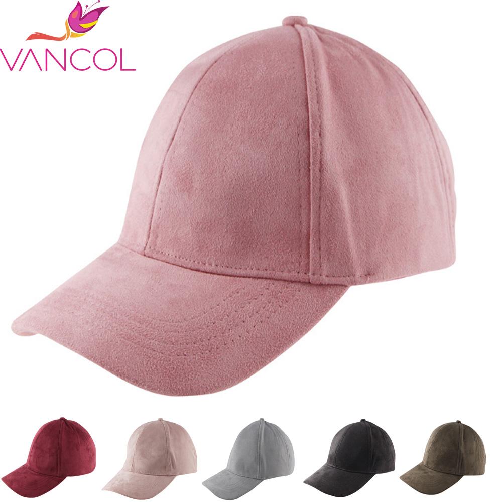 Vancol Summer Baseball Cap Women 2016 Fashion Brand Wholesale Street Hip Hop Caps Suede Hats for Ladies Black Grey Baseball Cap(China (Mainland))