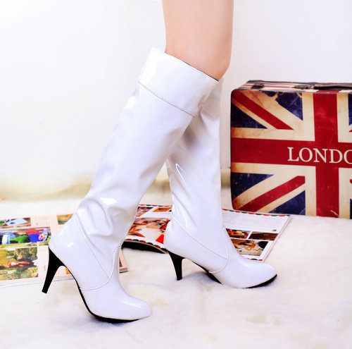 2015 spring new arrive fashion knee-high sexy boots Patent Leather for women winter party JD SHOES THSJKL2-7(China (Mainland))