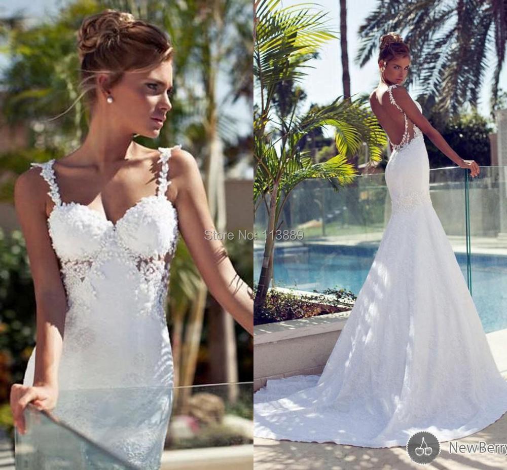 Bling bridal dresses 2014 mermaid nurit hen vintage long for Cheap lace mermaid wedding dresses