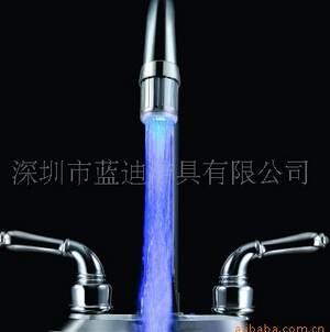 Glow LED Light Water Faucet Temperature Sensor Controlled Tap Color Changing(China (Mainland))