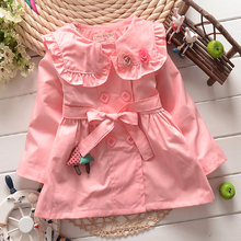 2015 Fashion Spring Autumn Flora Girls Jackets Cardigan baby kids Coat Children Outwear Coats Trench S1307