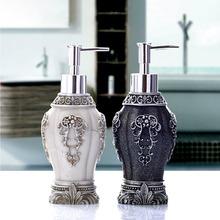 New Vintage Resin Art Craft of Hand Soap Dispenser Black/White Liquid Lotion Dispenser For Bathroom Kitchen Household Decor (China (Mainland))
