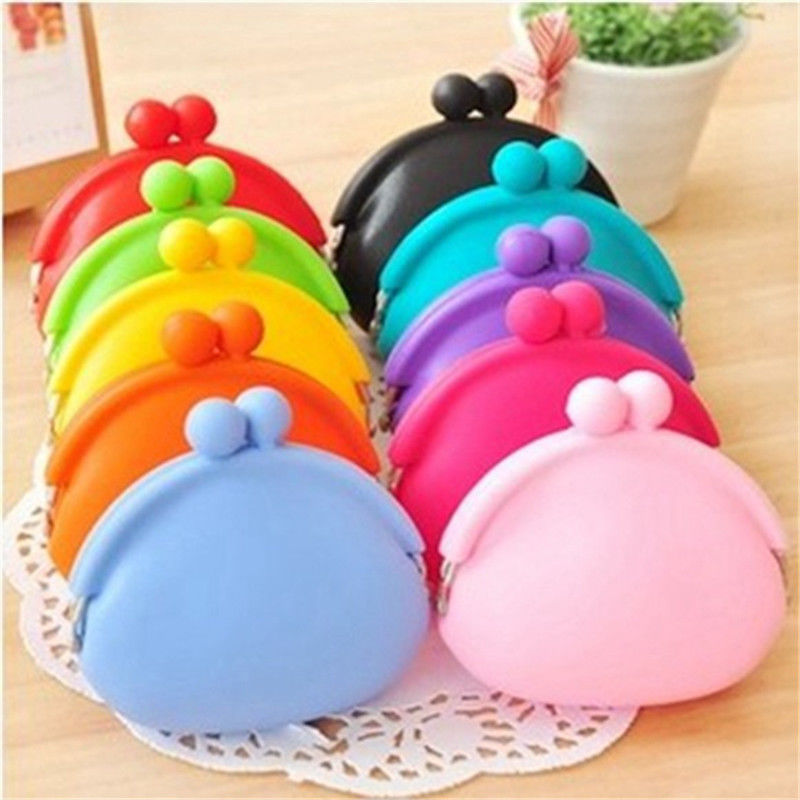 Гаджет  New Silicone Round Coin Purse Wallet Card Rubber Key Phone Frog Design Bag Pouch None Камера и Сумки