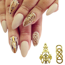 10pcs Alloy nail art gold  3d nails decorations new arrive Beautiful charms decorations nails YX130(China (Mainland))