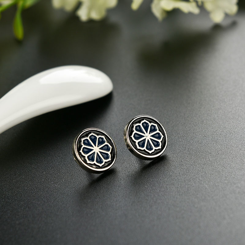 High-grade Black Round Safe Pin Brooch Retro Flower Brooch Wedding Mens Suit Accessories Female Party Dress Fashion Brooches(China (Mainland))