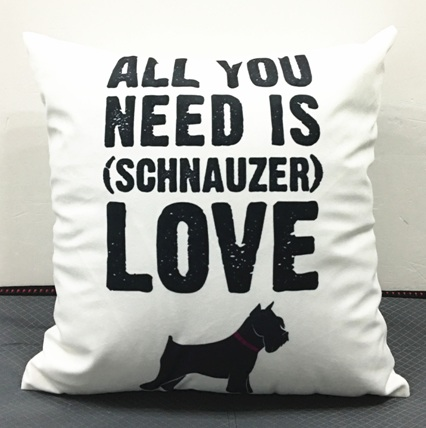 2016 New Schnauzer dog Cushion Covers Need LOVE Pillow Cases 8 Styles Boys ans Girls Favor - Gift Decor Store store