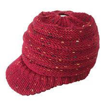 Hembra sombrero caballo Beanie sombrero de invierno para mujeres Crochet Knit Skullies casquillos calientes(China)