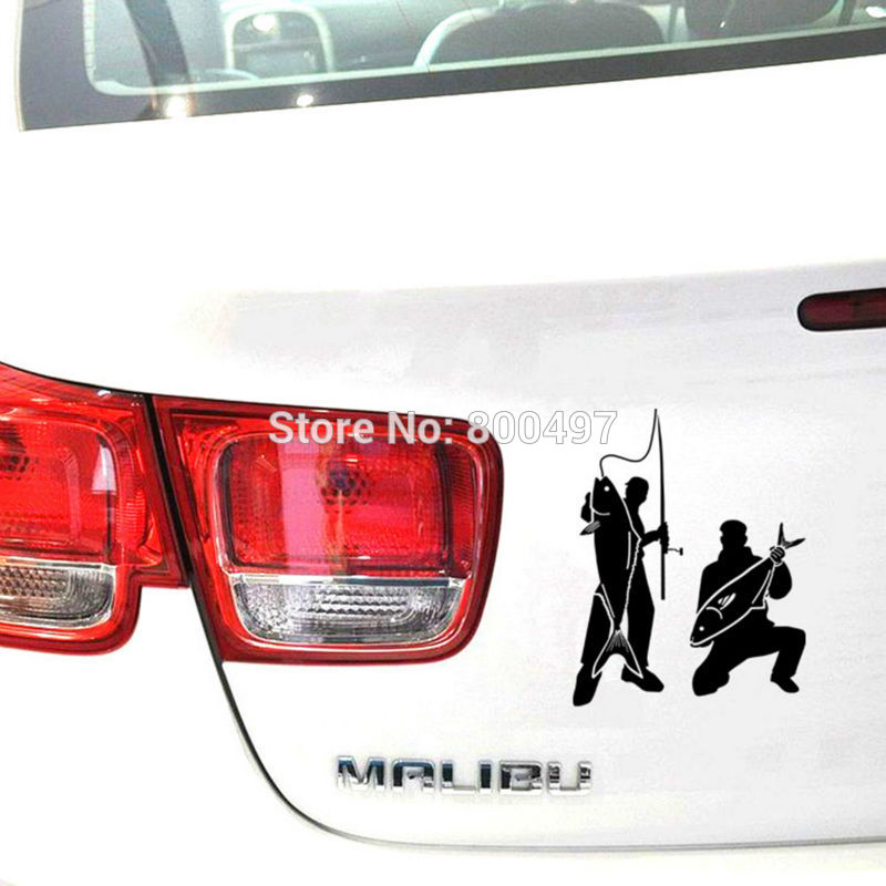 Newest Car Covers Go Fishing Car Sticker Auto PVC Decal Car Accessories for Tesla Toyota Chevrolet Volkswagen Hyundai Kia Lada(China (Mainland))