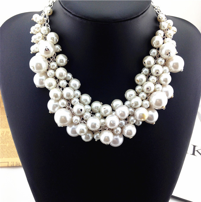 New design high quality statement necklace collar pearl Necklaces & Pendants fashion necklaces for women 2014(China (Mainland))