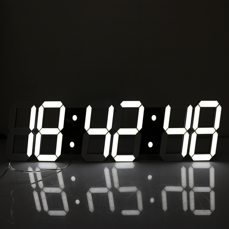 Promotion!Large Led Wall Clock Modern Design Show Time On The Wall In The Living Room 3D Digital Wall Clock Big digital Display(China (Mainland))
