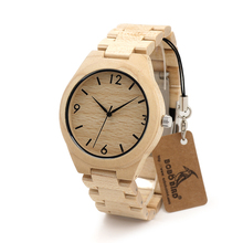 BOBO BIRD Christmas Season Gift Design for Anniversary Edition Christmas Series of Wooden Watches Maple Wood Quartz Watch