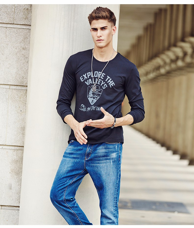 HTB1qMAoKVXXXXaJaXXXq6xXFXXXv - Pioneer Camp men Hot T shirt fashion brand clothing Men's Long Sleeve T Shirt Cotton Elastic Casual T-Shirt Male 4XL plus size