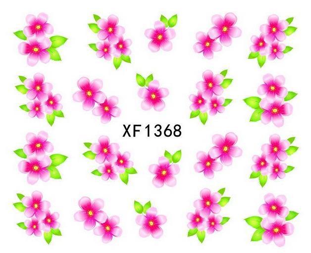 (Two or more cheap 10% again) 30 sheets/lot XF1368 Japanese Watermark Nail Art Fashion 3D DIY Nail Sticker,Necessary Nail Tools(China (Mainland))