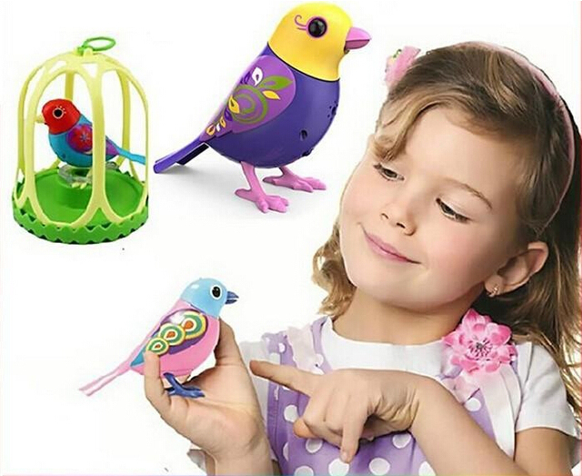 2016 New Toys Singing Sound Birds Pets sing Solo or in a Choir Intelligent music bird for Kids/Children Electric Toy