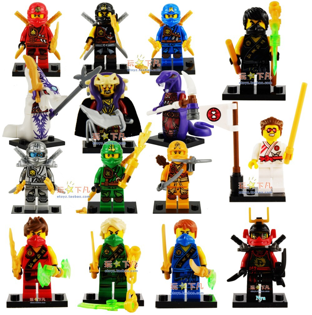 New Ninja 15pcs/lot Jay Cole Lloyd Mini Figures Building Blocks No Original Box Free Shipping(China (Mainland))