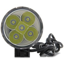 High Brightness 5 Cree XM - L T6 LEDs 3500Lm 3 Modes 18650 Battery Pack Cool White Light Outdoor Headlight 1231987 Time Fly! store