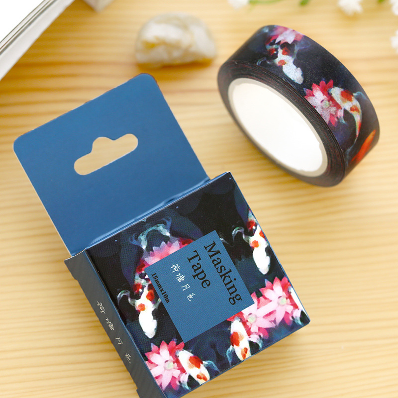 1 Pc / Pack Size 15 Mm*10m Diy Lotus Pond Washi Tapes / Masking Tape / Decorative Adhesive Tapes<br><br>Aliexpress