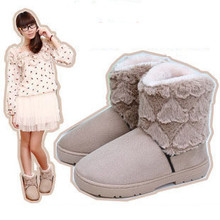 Botas de nieve mediano de la pierna de algodón acolchado zapatos térmicos(China (Mainland))