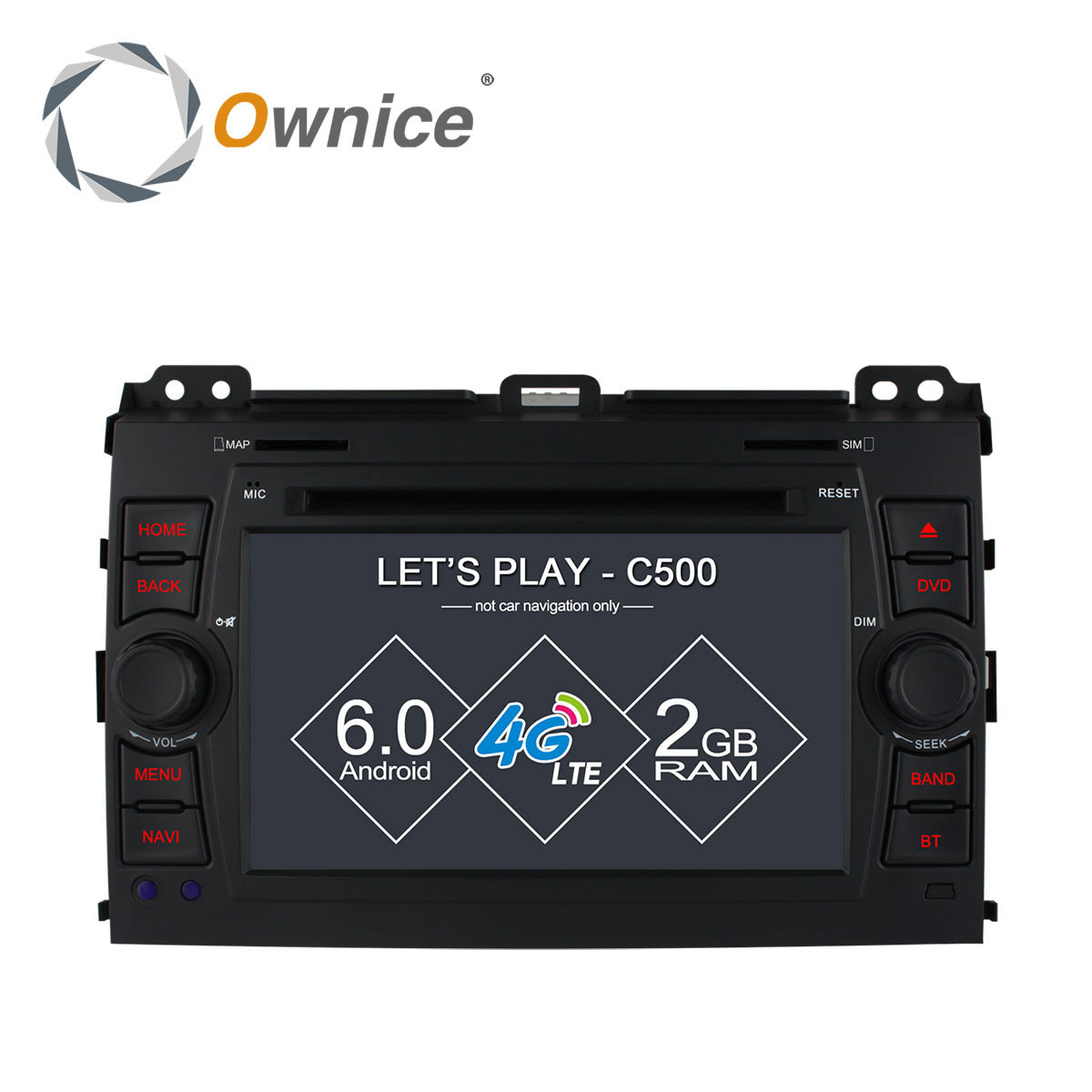 Ownice C500 Android 6.0 4 Core Car DVD player For Toyota Prado 120 2002 - 2009 GPS RADIO 4G SIM LTE GPS BT 2GB RAM 16GB ROM(China (Mainland))