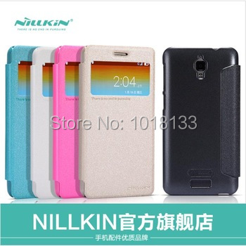 NILLKIN Lenovo S660 Leather Case Fresh Series Flip Cover Protective Gift Screen Protector - Mobile Phone Accessories Home store