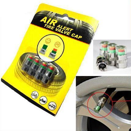 Car Styling 4pcs lot 2 2bar 32PSI Car Tyre Tire Pressure Valve Stem Caps Sensor 3