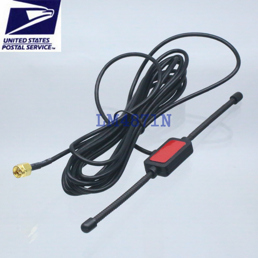 Antenna 433MHz 3dbi GSM GPRS SMA male plug tentacle 3M RG174 cable UHF VHF FPV(China (Mainland))