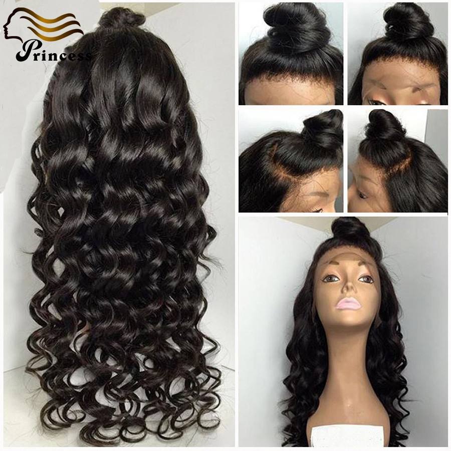 7A Cheap Brazilian Glueless Human Hair Wigs For Black Woman Lace Front Wigs With Baby Hair Full Lace Wigs Bleached Knots Stock<br><br>Aliexpress